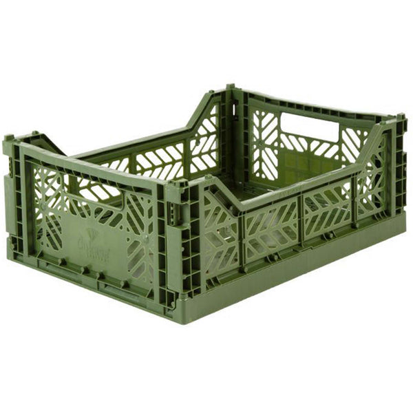 Folding Crate, Medium - Khaki