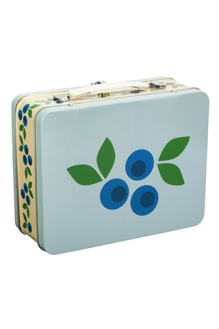 Metallic Suitcase Blueberry