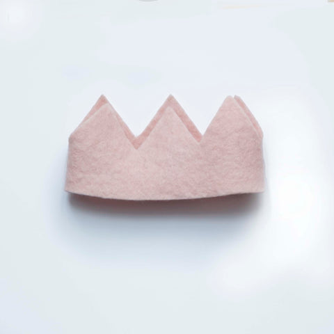 Felted pink crown