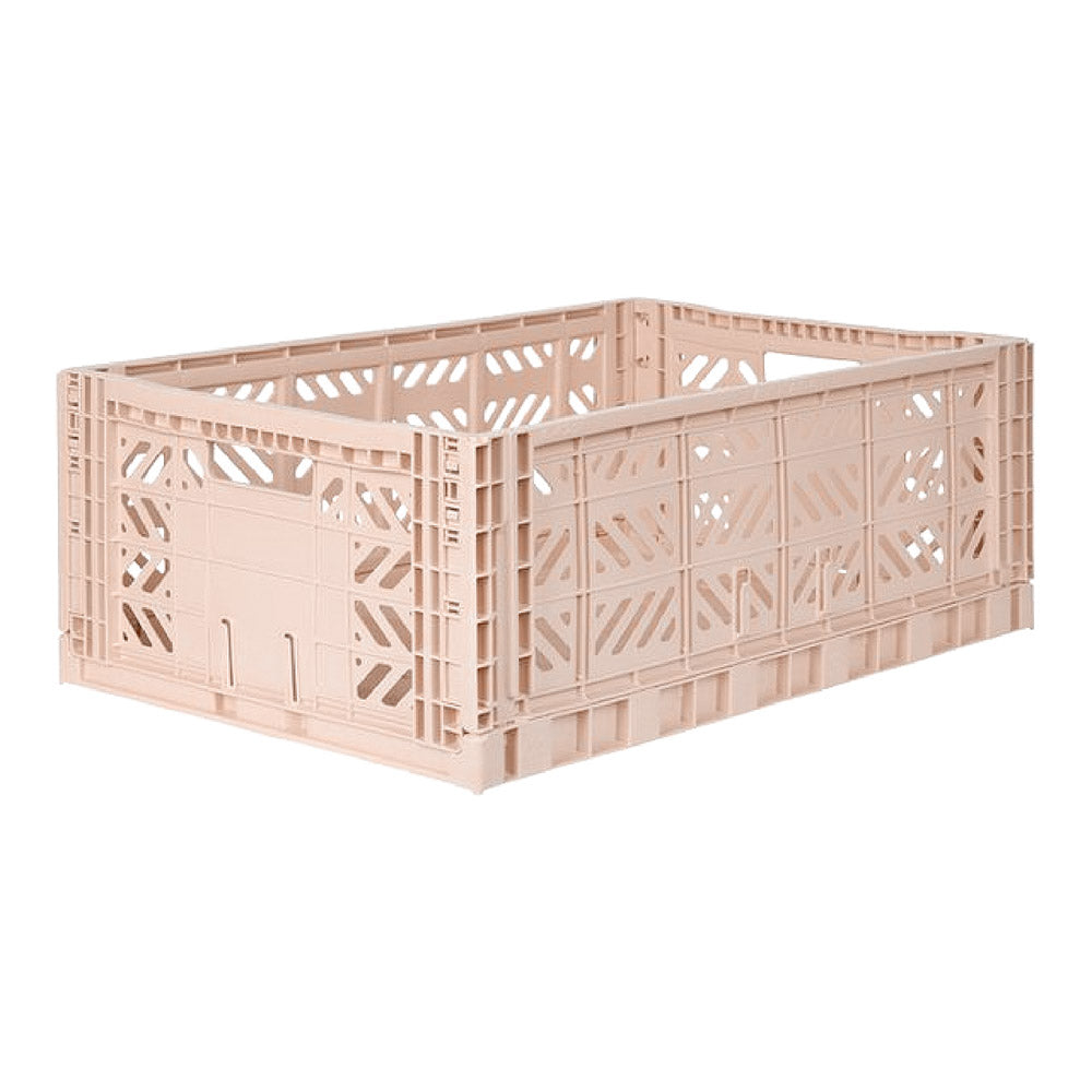 Folding Crate, Large - Milk Tea