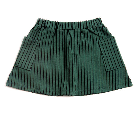 Emerald Stripe Pocket Skirt