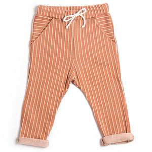 Terracotta Stripe Pocket Pants