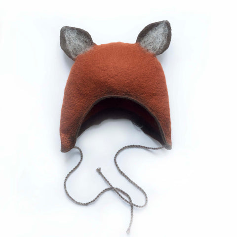 Felted fox hat