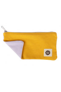 Blafre Pencil Case, Yellow/Light Purple