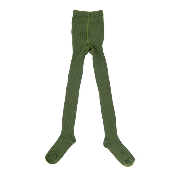 Ribbed Tights Olive