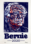 Original Woodblock Bernie Print 11x14