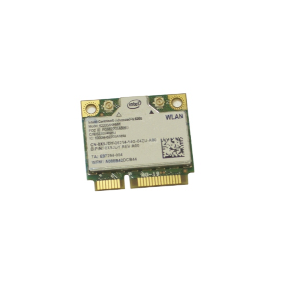 OEM Intel Centrino Advanced-N 6205 Wireless WiFi 802.11 a/b/g/n Half-Height Mini-PCI Express Card for Dell Latitude E6220 - X9JDY 0X9JDY CNX9JDYw/ 1 Year Warranty