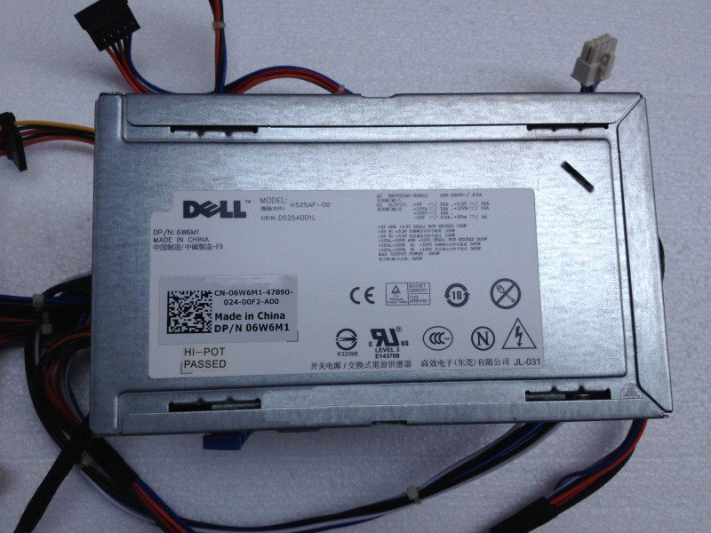 Dell 06W6M1 Precision T3500 525 Watt Power Supply H525EF-00