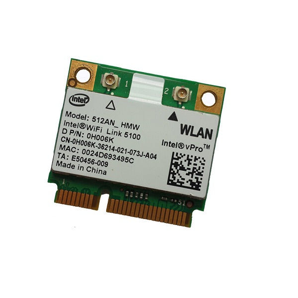 Intel WiFi Link 5100AGN Half Size Mini PCIE Wireless WIFI Card - 512AN_HMW CY256