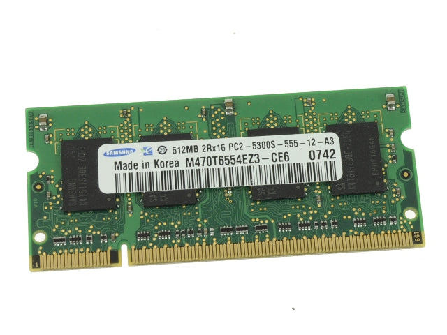 For Dell OEM DDR2 512mb 667Mhz PC5300 Sodimm Laptop RAM Memory Stick - PULL w/ 1 Year Warranty