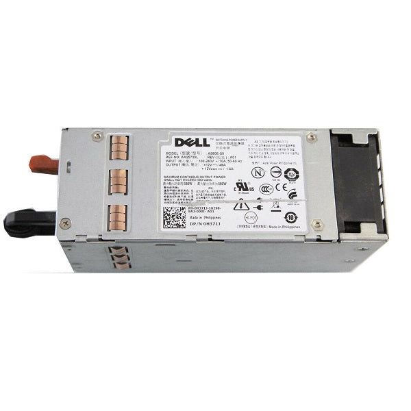 For Dell PowerEdge T410 F5XMD G686J AA25730L H371J A580E-S0 580W power supply