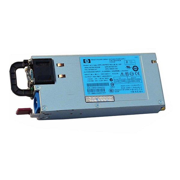 For HP DL180 380G6 460W Sevrer Power Supply - 591553-001 599381-001