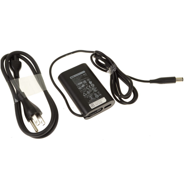 For Dell OEM 45-watt AC Power Adapter Plus 5W USB - 7.4mm Barrel - 45 Watt - 5R7RR