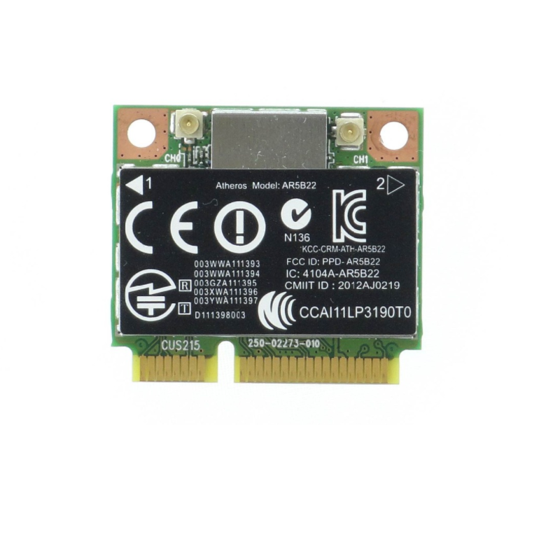Wireless Adapter Card for Atheros AR5B22 AR9462 802.11a/b/g/n half Mini PCI-E 2.4G/5G Wifi Bluetooth 4.0 for HP SPS 676786-001