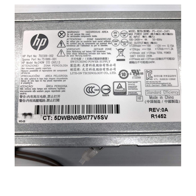 For HP 021H2 Power Supply 702309-002 PCC004 240W