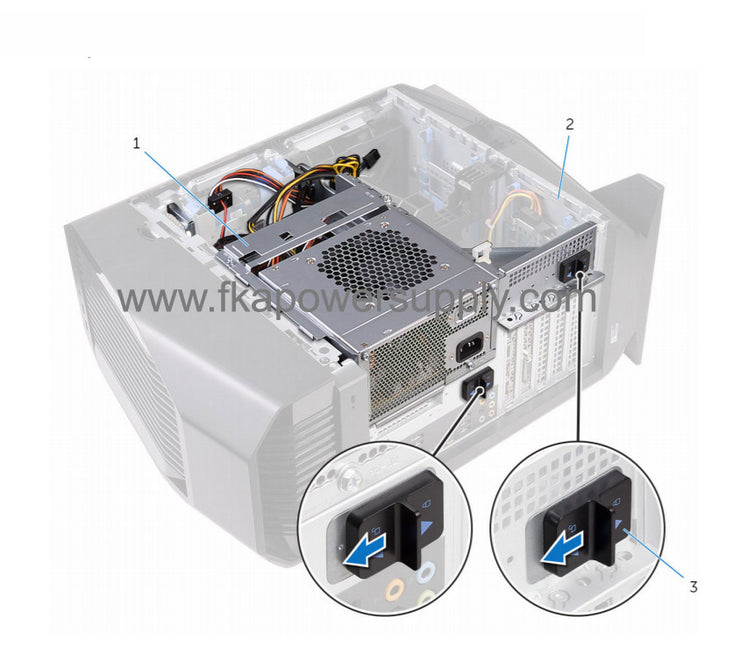 Dell NJVDN 0NJVDN 850W EPA GOLD Power Supply for Alienware