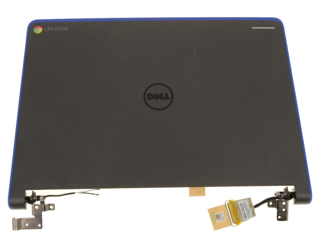 "OEM Chromebook 11 (3120) 11.6"" LCD Back Cover Lid Assembly with Hinges for Dell - No TS - FK2JJ"