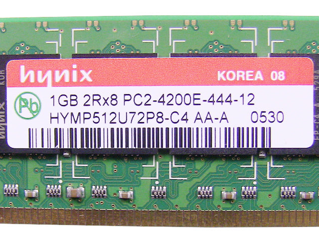 For Dell OEM DDR2 533Mhz 1GB PC2-4200E ECC RAM Memory Stick - HYMP512U72P8-C4 w/ 1 Year Warranty