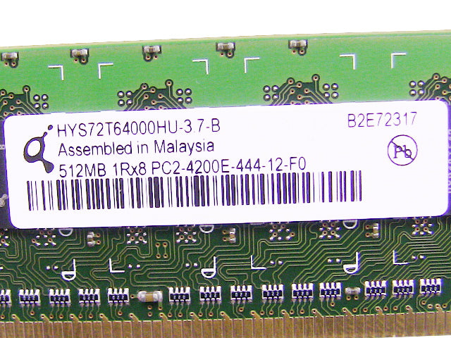 For Dell OEM DDR2 533Mhz 512MB PC2-4200E ECC RAM Memory Stick - HYS72T64000HU-3.7-B w/ 1 Year Warranty