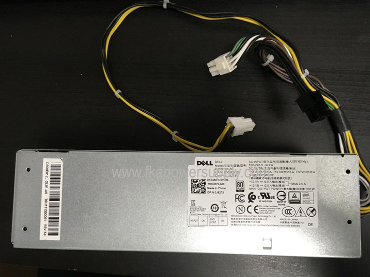 Dell J82T5 0J82T5 300W SFF Power Supply for Optiplex XE3