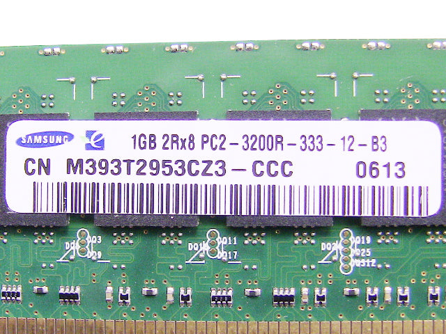 For Dell OEM DDR2 400Mhz 1GB PC2-3200R ECC RAM Memory Stick - M393T2953CZ3-CCC w/ 1 Year Warranty