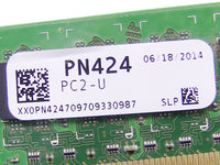 Dell OEM DDR2 667Mhz 1GB PC2-5300U Non-ECC RAM Memory Stick - PN424 w/ 1 Year Warranty