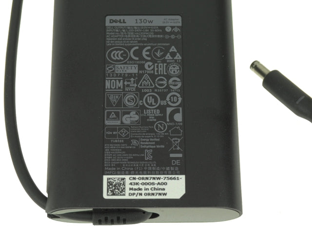 For Dell OEM XPS 15 (9530) / Precision M3800 Laptop Charger 130 watt Genuine AC Power Adapter 4.5mm Tip - 6TTY6 - RN7NW