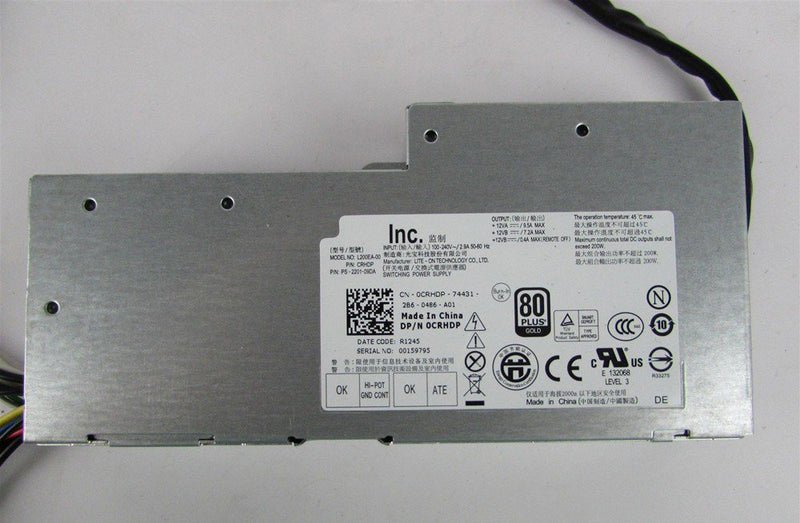 Dell CRHDP 0CRHDP Inspiron One 2330 Optiplex 9010 AIO Computer Power Supply 200W