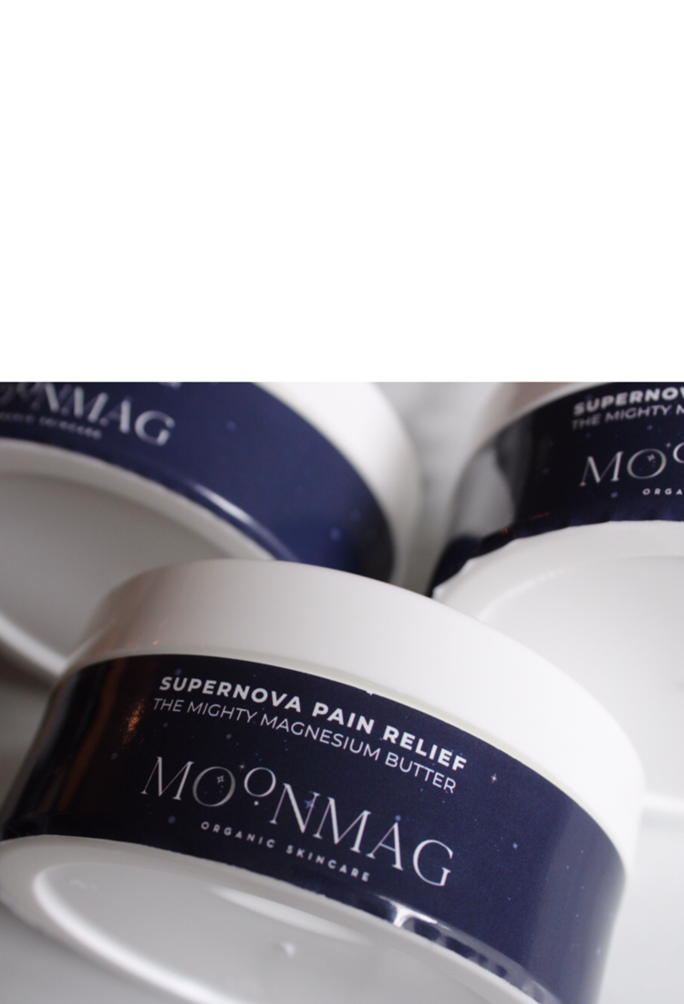 MoonMag Organic Magnesium Pain Relief Cream and SkinCare Products