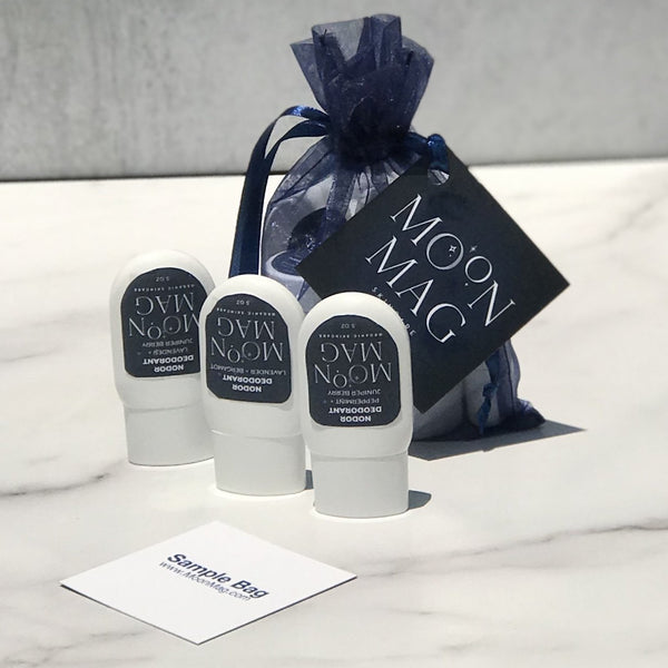 Skin Care Sample Bags - MoonMag Organic SkinCare