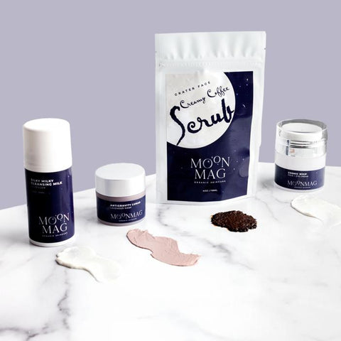 Aging skin, makeup causes aging, early signs of aging, magnesium facial scrub, magnesium products, reduce fine lines and wrinkles, magnesium skin care