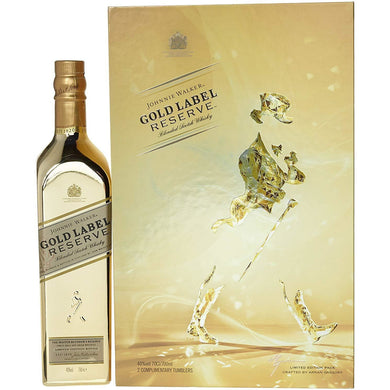 Johnnie Walker Gold Label VAP F16 (With 2 Glasses) Blended Scotch Whisky (75cl) - liquormalaysia