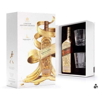Johnnie Walker Gold Label VAP F17 (With 2 Glasses) Blended Scotch Whisky (75cl) - liquormalaysia