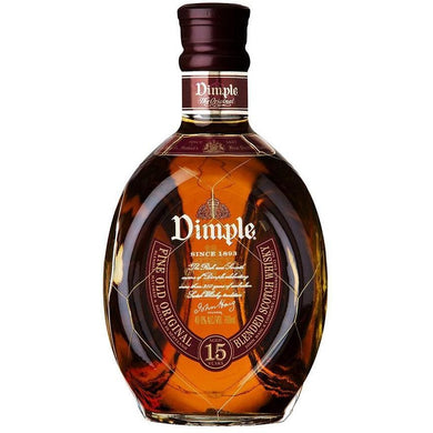 Dimple 15 Years Old Blended Scotch Whisky (100cl) - liquormalaysia