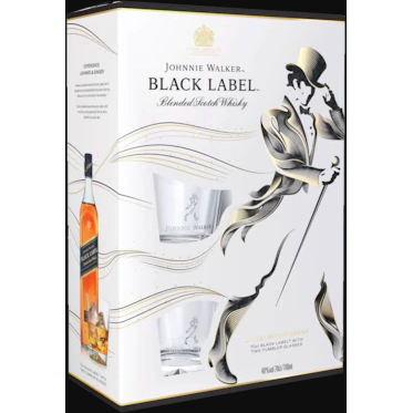 Johnnie Walker Black Label VAP F17 (Miniature + Glass) Blended Scotch Whisky (70cl) - liquormalaysia