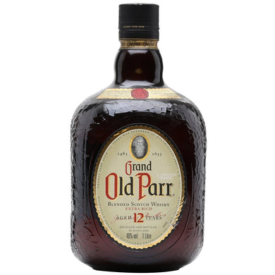 Old Parr 12 Year Old Blended Whisky (100cl) - liquormalaysia