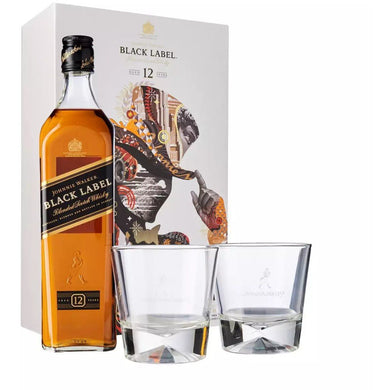 Johnnie Walker Black Label VAP F18 (2 Glasses) Blended Scotch Whisky (70cl) - liquormalaysia