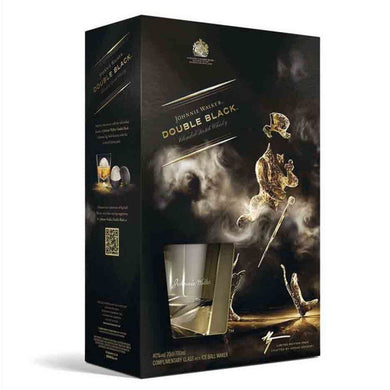 Johnnie Walker Double Black Label Gift Pack (Miniature + Glass) Blended Scotch Whisky (70cl) - liquormalaysia