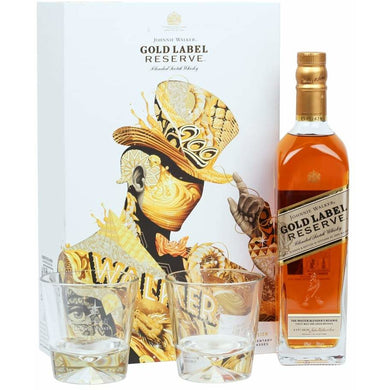 Johnnie Walker Gold Label VAP F18 (With 2 Glasses) Blended Scotch Whisky (75cl) - liquormalaysia