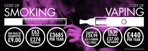 Smoking cost vs vaping cost