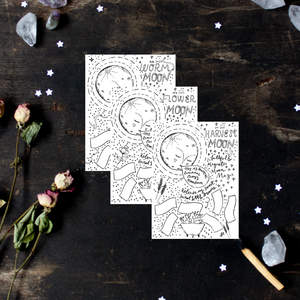 Collection of 12 Printable Full Moon Sheets