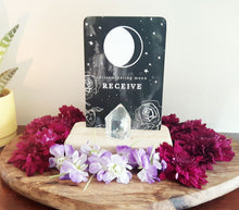 Wooden display block to display Tarot, Oracle or Moon Deck cards