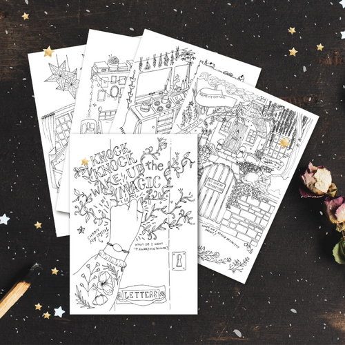Cottage Magic Colouring Bundle