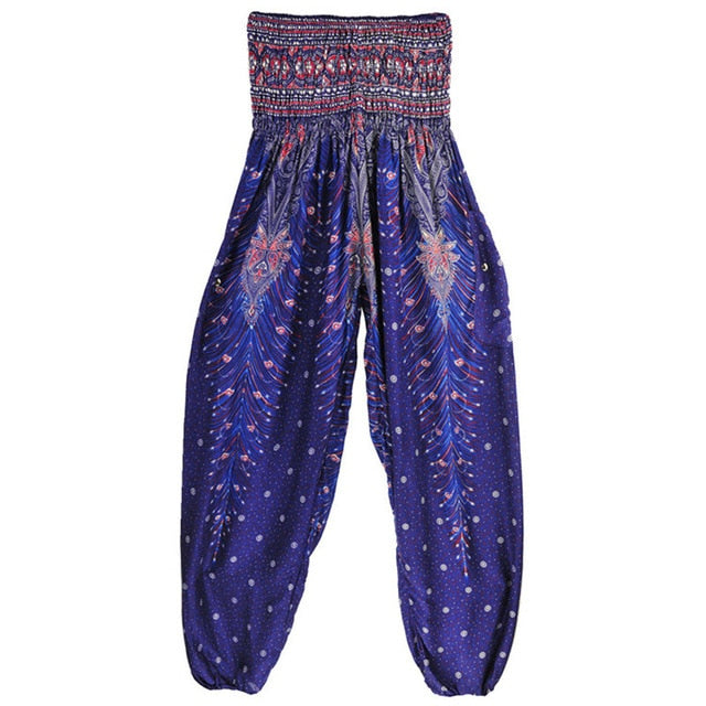 CHRLEISURE  Printed Harem Pants for Relaxing and Yoga with  Pockets