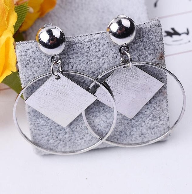Fashion Geometry Dangle Earrings