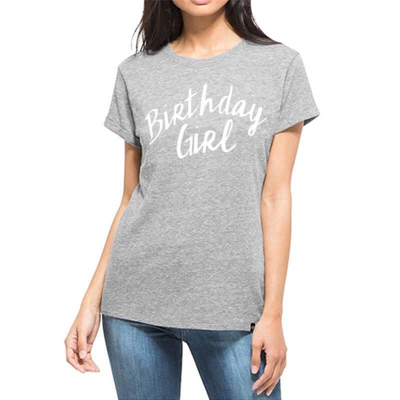 WT0058  Birthday Girl Ladies and Teens Tee Shirt