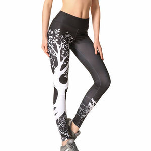 Ladies Tree Pattern Yoga and Fitness Leggings