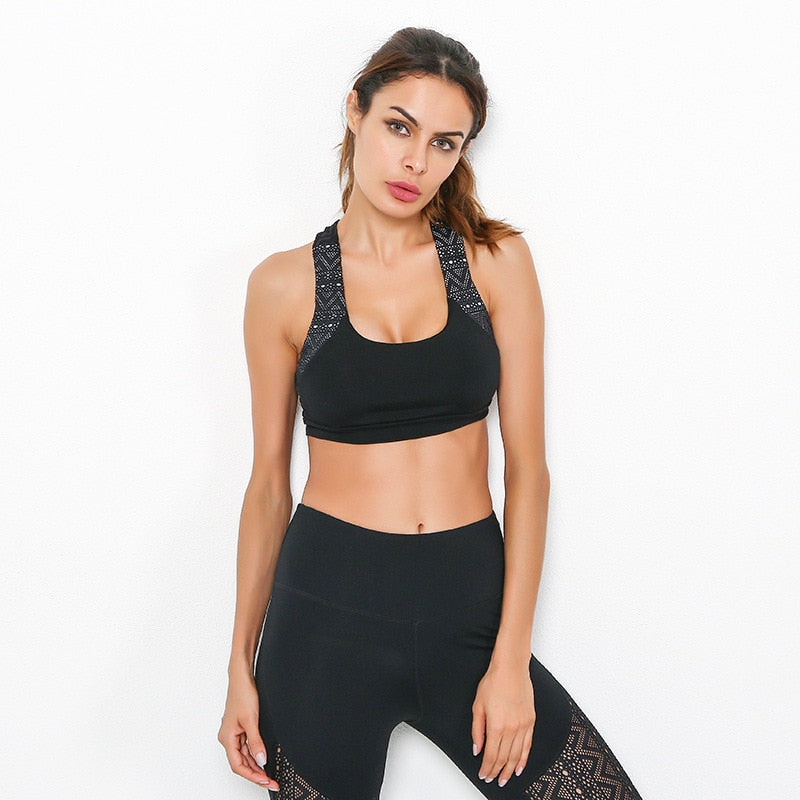 Women's Absorb Sweat Top Running Sports Bra
