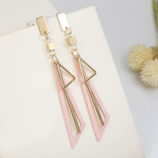 Ladies Geometric Pendent Earrings