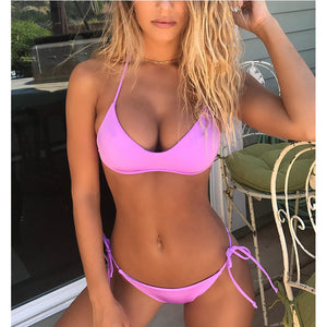 Ladies or Teens Bandage Micro Bikini Push Up Swimwear